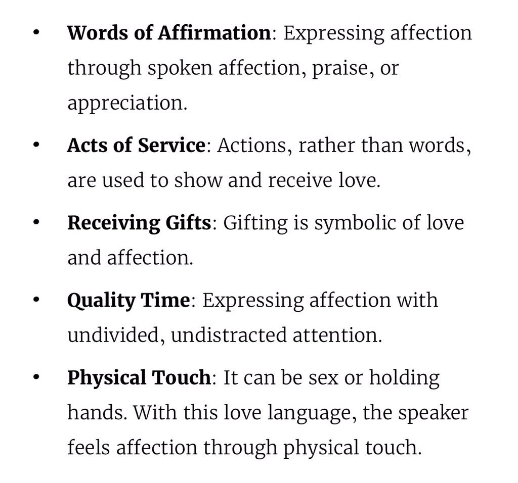 words of affection love language