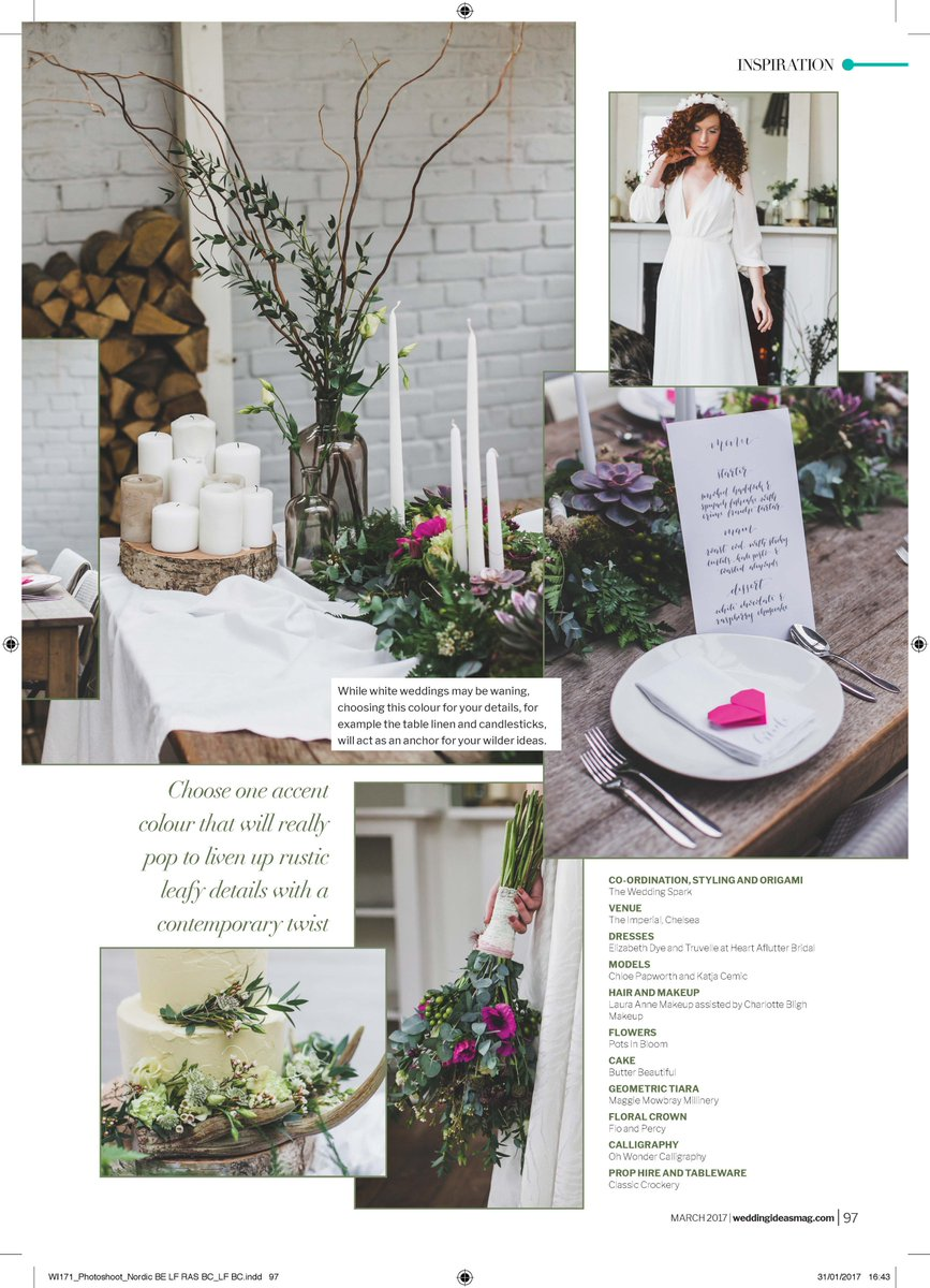 Still Sooooooo Incredibly Chuffed To See Our Names In This Months Wimagazine Dreamcometrue Weddinghour StyledBySparkpictwitter 4Fw5M5HfG9
