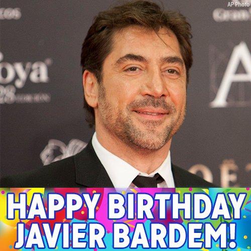 Happy Birthday to Oscar-winning actor Javier Bardem!