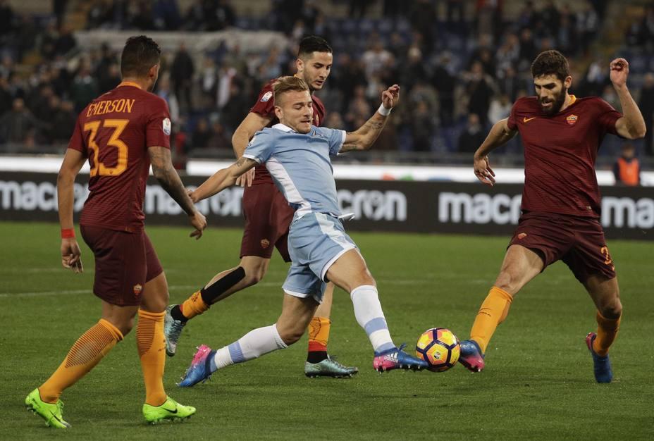 Milinkovic-Savic Immobile e il Derby è della Lazio: 2-0 alla Roma in Coppa italia