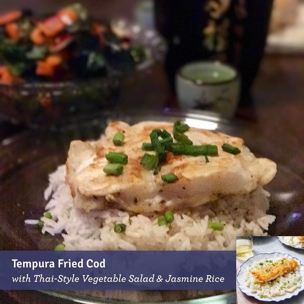 Blue apron tempura cod -  Blueapron Http Ift Tt 2lbjumz Pic Twitter Com R3phgixc7s
