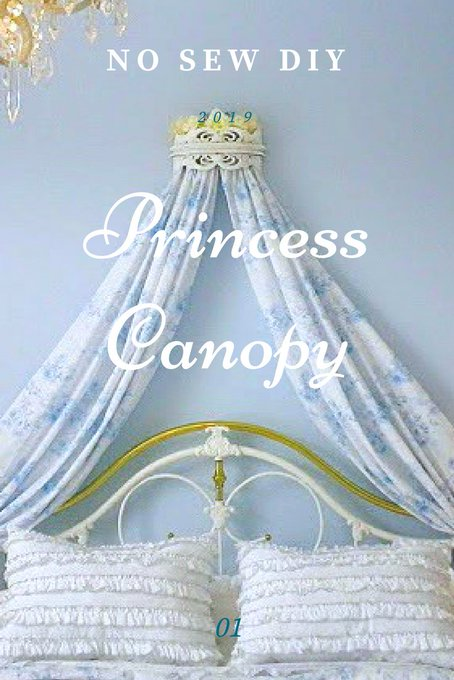 A No Sew Project: Canopy Bed Crown!