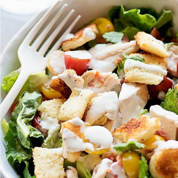 Chicken BLT Salad with Buttermilk Parmesan Dressing _ The Best Blog Recipes