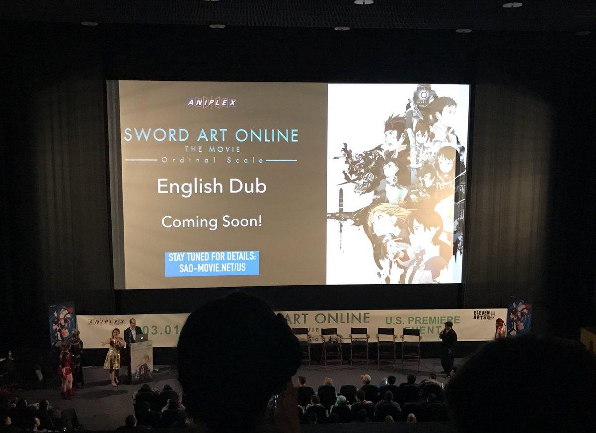 sword art online ordinal scale english dub
