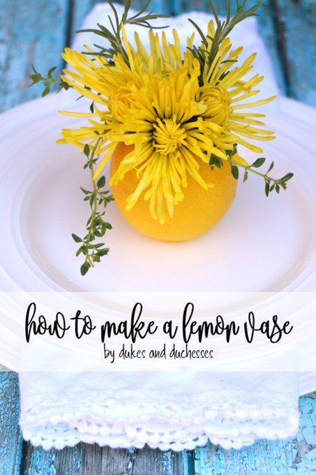 How to Make a Lemon Vase