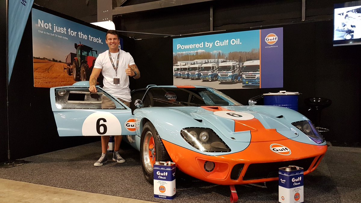 Jono Lester  F F  B F F  Bf On Twitter Hanging With Gulfoil Nz At The Transport Expo Drooling Over Their Ford Gt A World Away From The Porsche Im Racing In