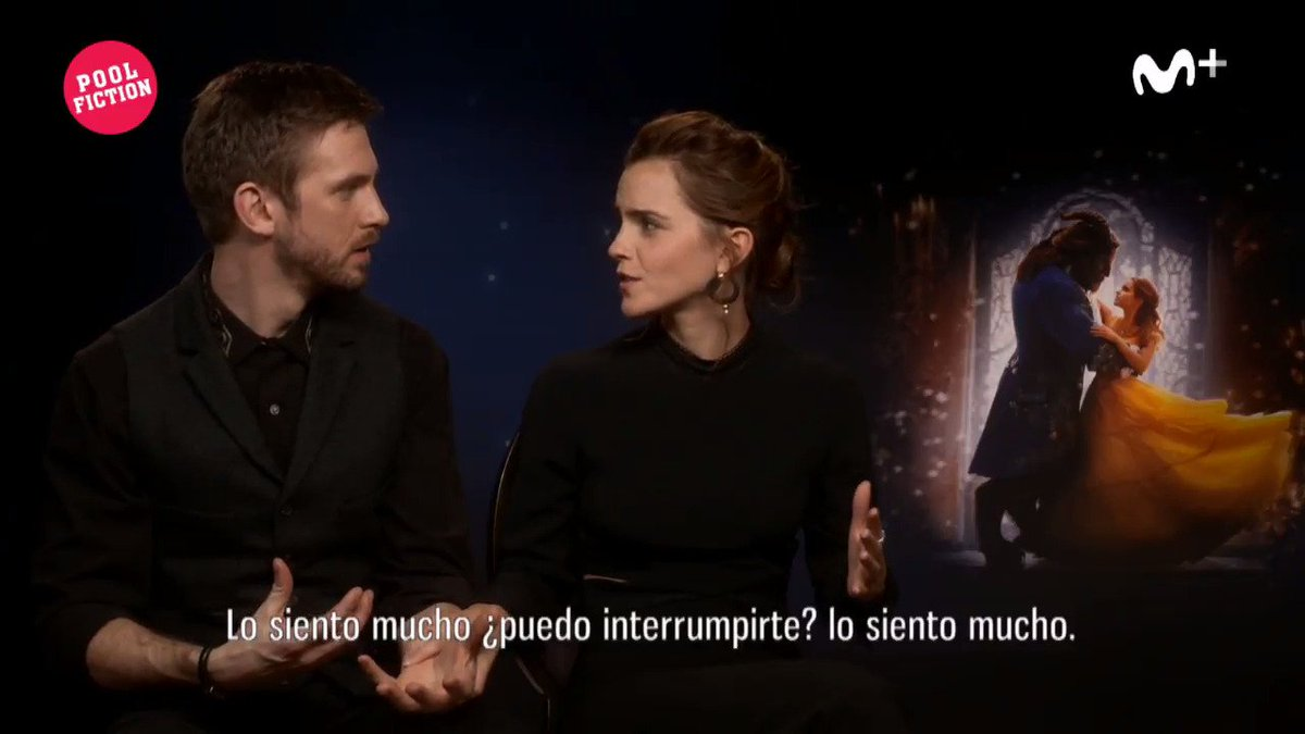 Emma Watson interrupting the interview to wipe off ink from the reporter's cheeks