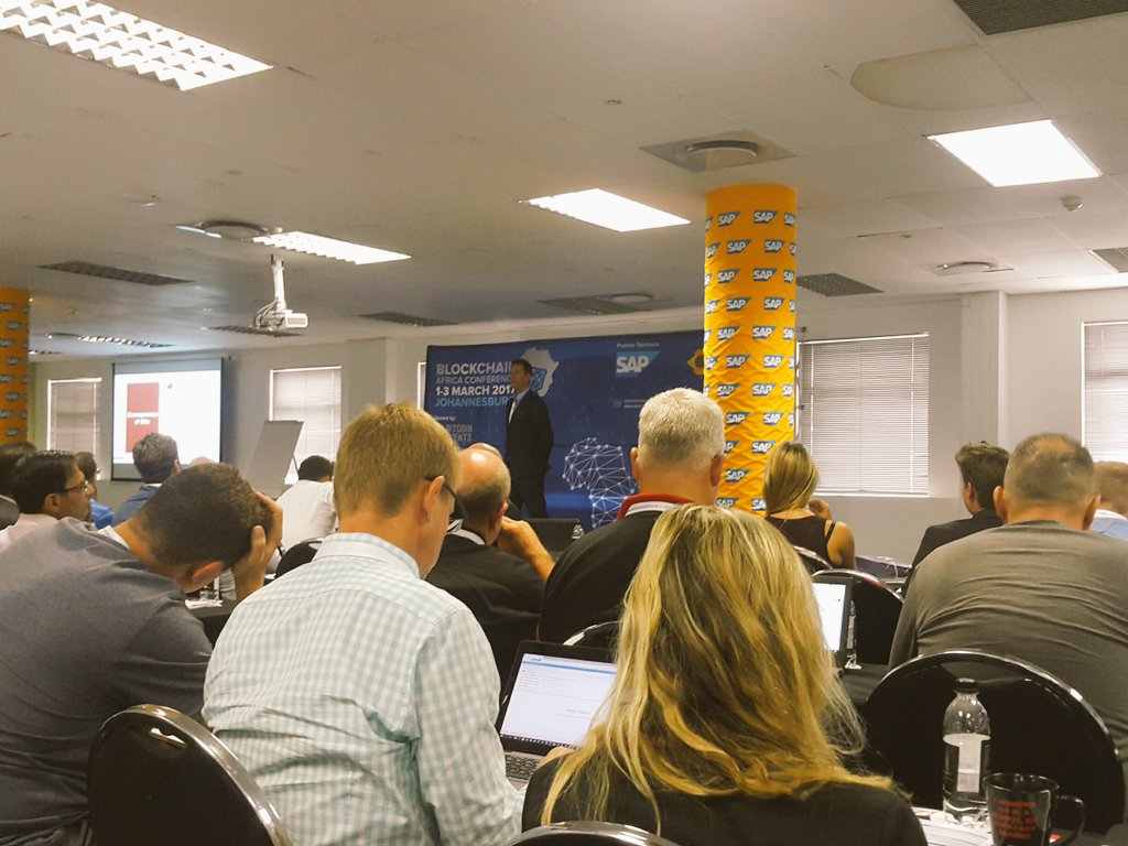 Clive Cook from @R3CEV @Bitcoin has disrupted how peers transfer value between each other @blockchainza #BAC17 https://t.co/rfKiuViHi0