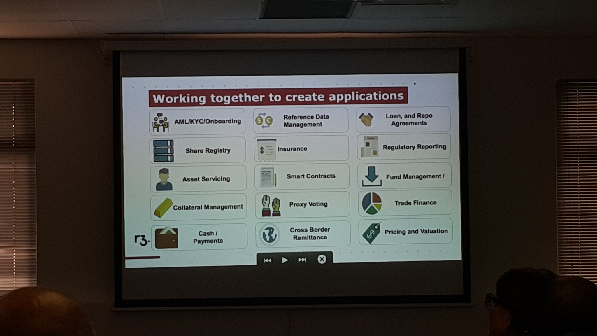 @R3CEV creating apps/value in a wide number of key areas see pic @blockchainza #BAC17 #Corda https://t.co/8G4t2KJUic