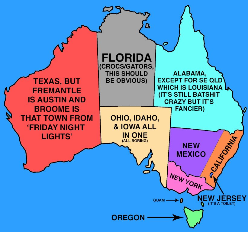 Map Of Australia And Usa.Cam Tyeson Twitter वर I Have Fixed That Stupid Australia Us Map