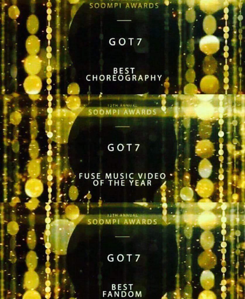 Congratulation to them!!! #GOT7 #igot7 #soompiaward <br>http://pic.twitter.com/fobb8KR4Iq
