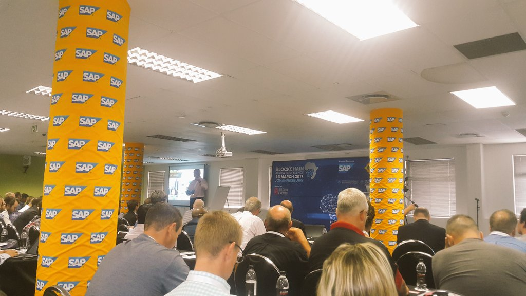 Darrel Orsmond from @SAPAfrica - For #blockchain is about making markets more efficient @blockchainza #BAC17 https://t.co/LXDUnxUEkm