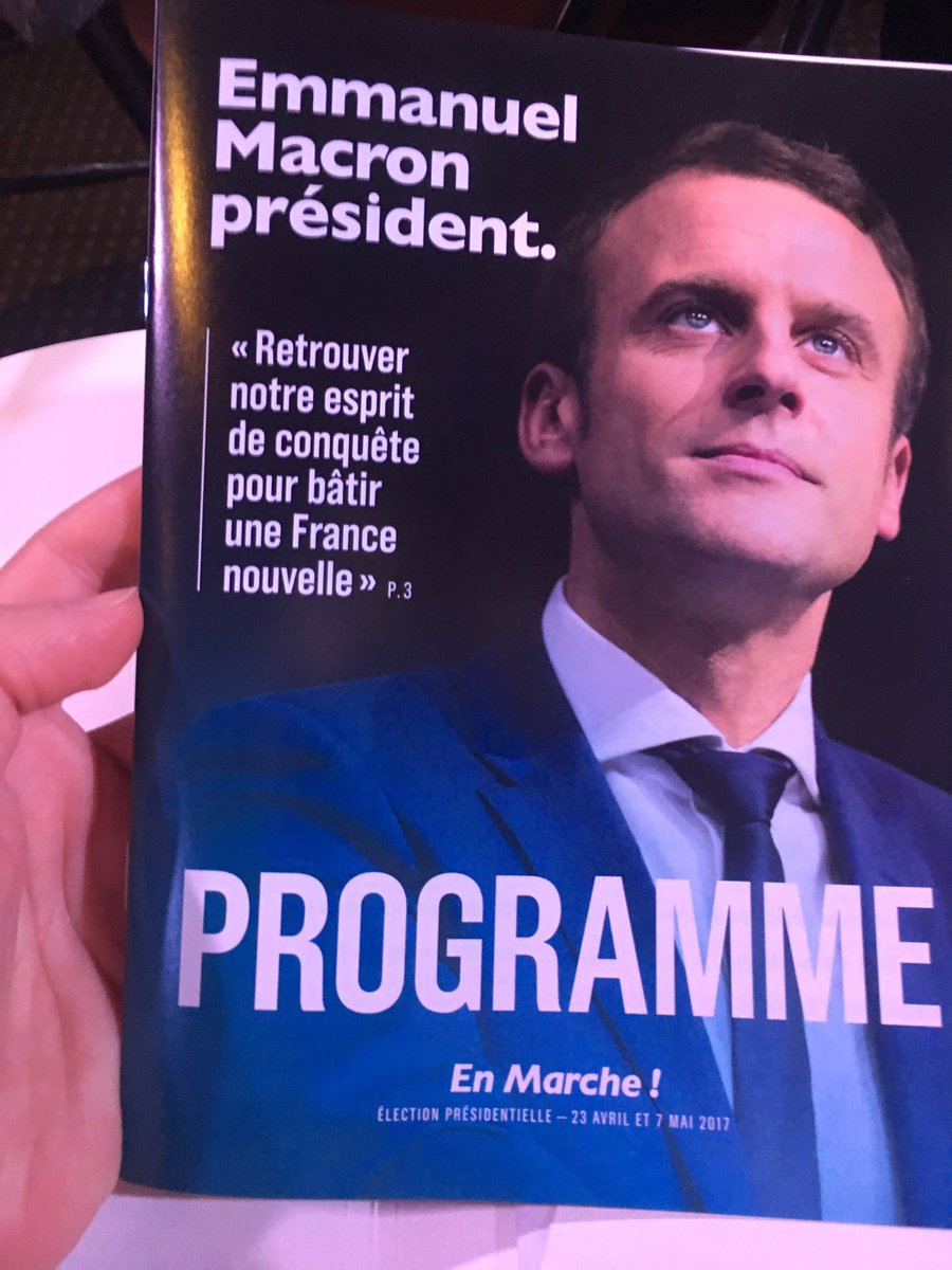 Emmanuel Macron Programme Emmanuelmacron Fascicule Pages Slogan Emmanuel Macron President Cedric Pietralunga Scoopnest