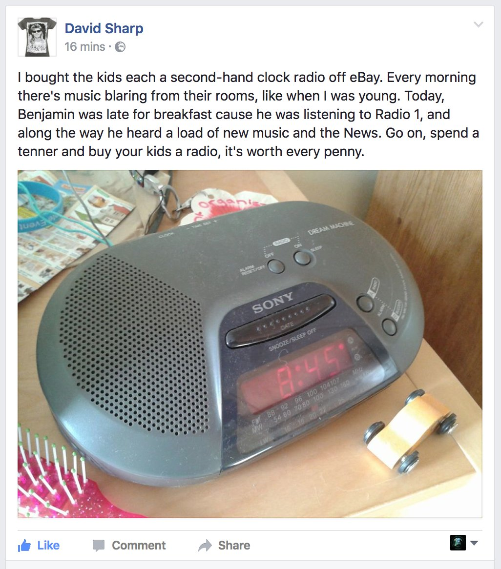 RT @producerjacob: please buy your kids a radio 📻 https://t.co/iXJbDgky5M