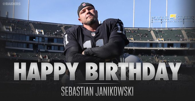 Happy Birthday to kicker Sebastian Janikowski!