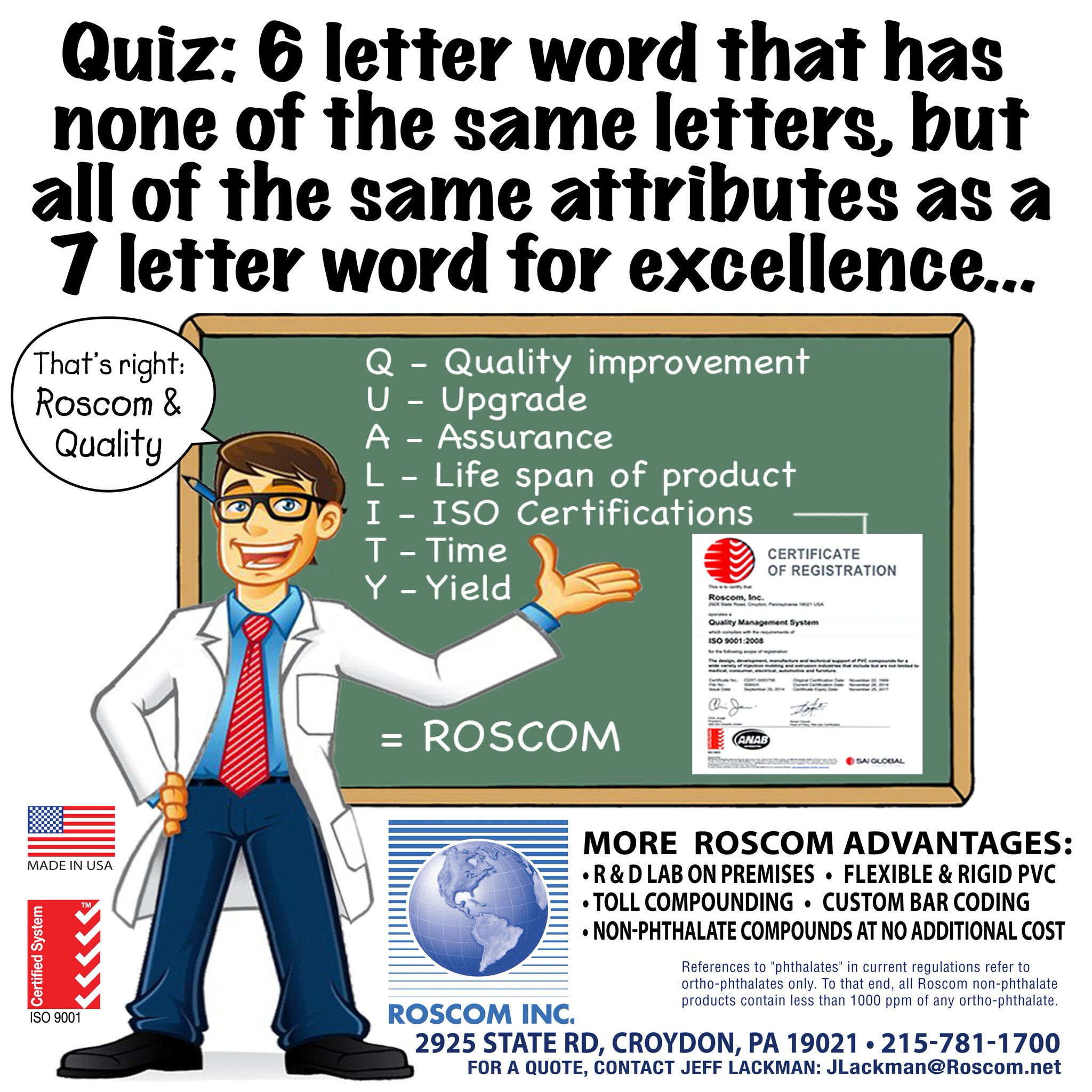 Roscom Inc On Twitter When You Think Of Roscominc Think Quality