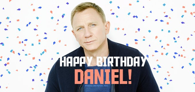 Wishing our favorite James Bond, Daniel Craig, a very happy birthday!