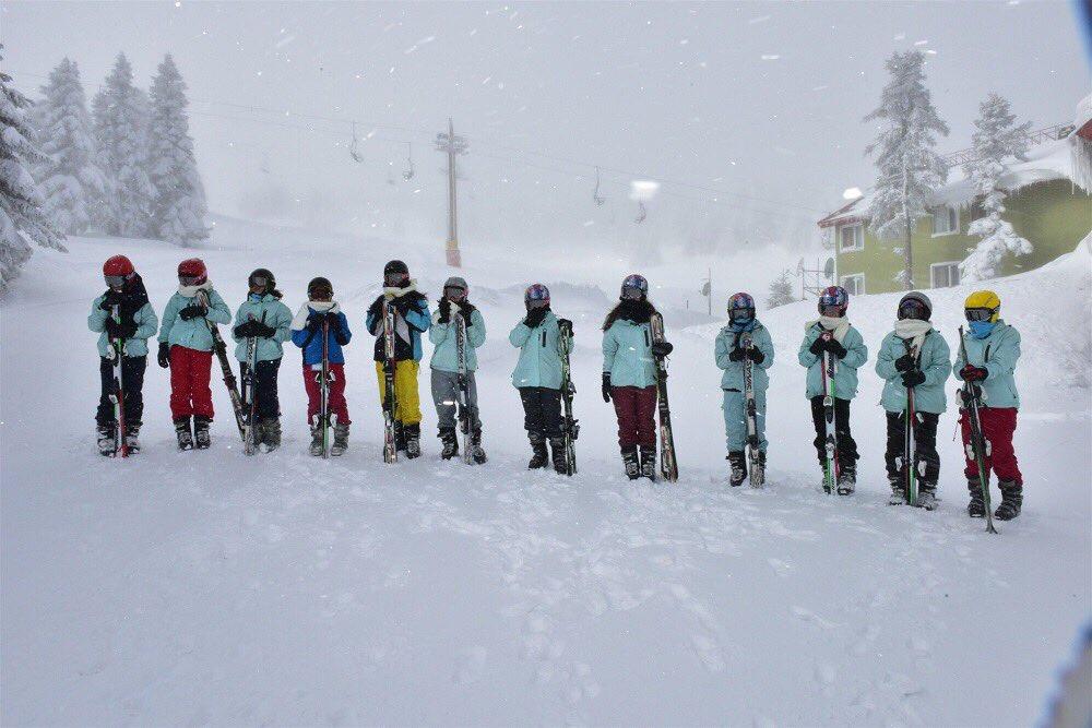 Mükemmel fotoğraflar!  Uludağda kayak keyfi... ⛷