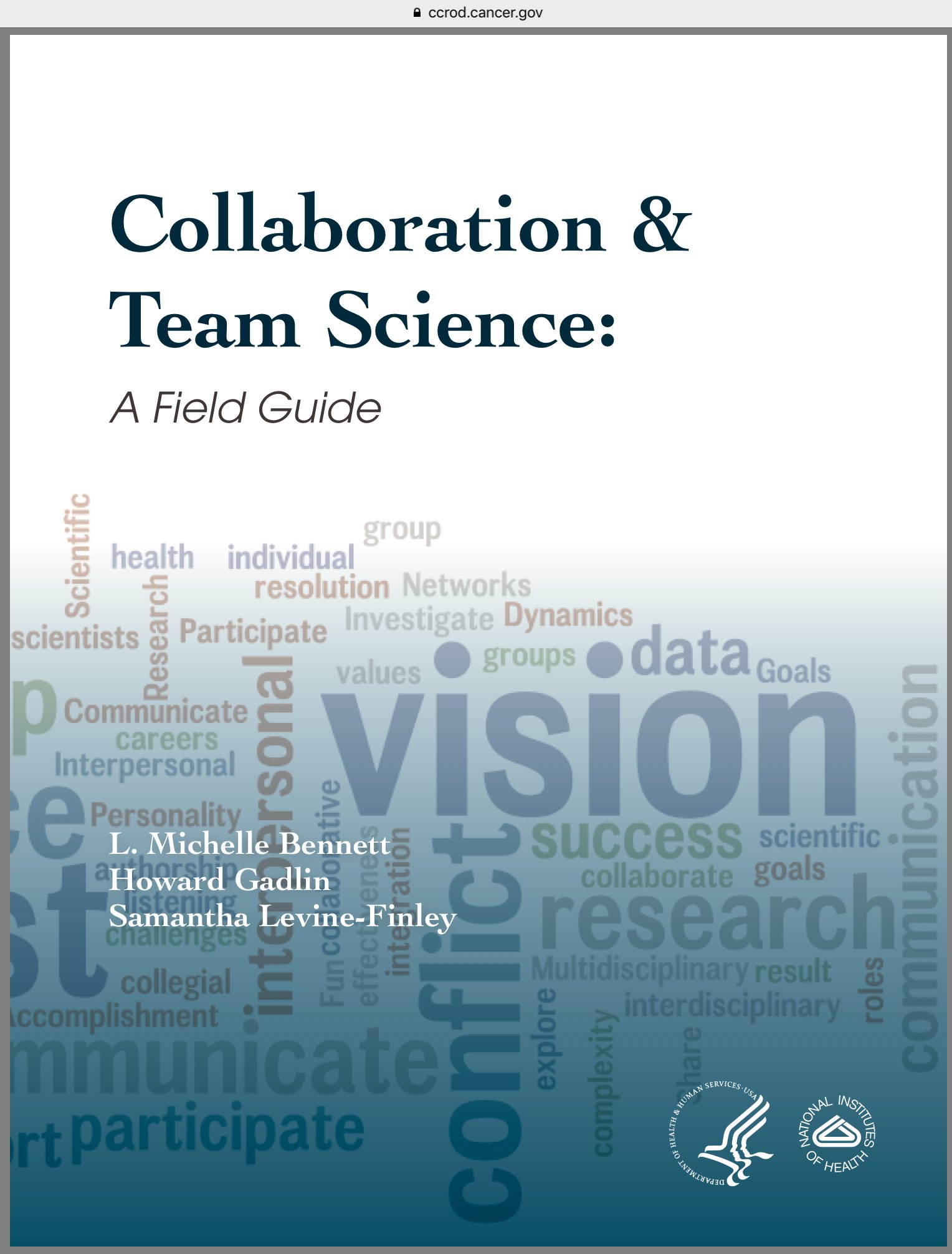 When I started as a PI, the excellent @NIH #TeamScience manual wasn't around, @baym. It's a must read for everyone: https://t.co/gsqV5I95jY https://t.co/be9pparUM6