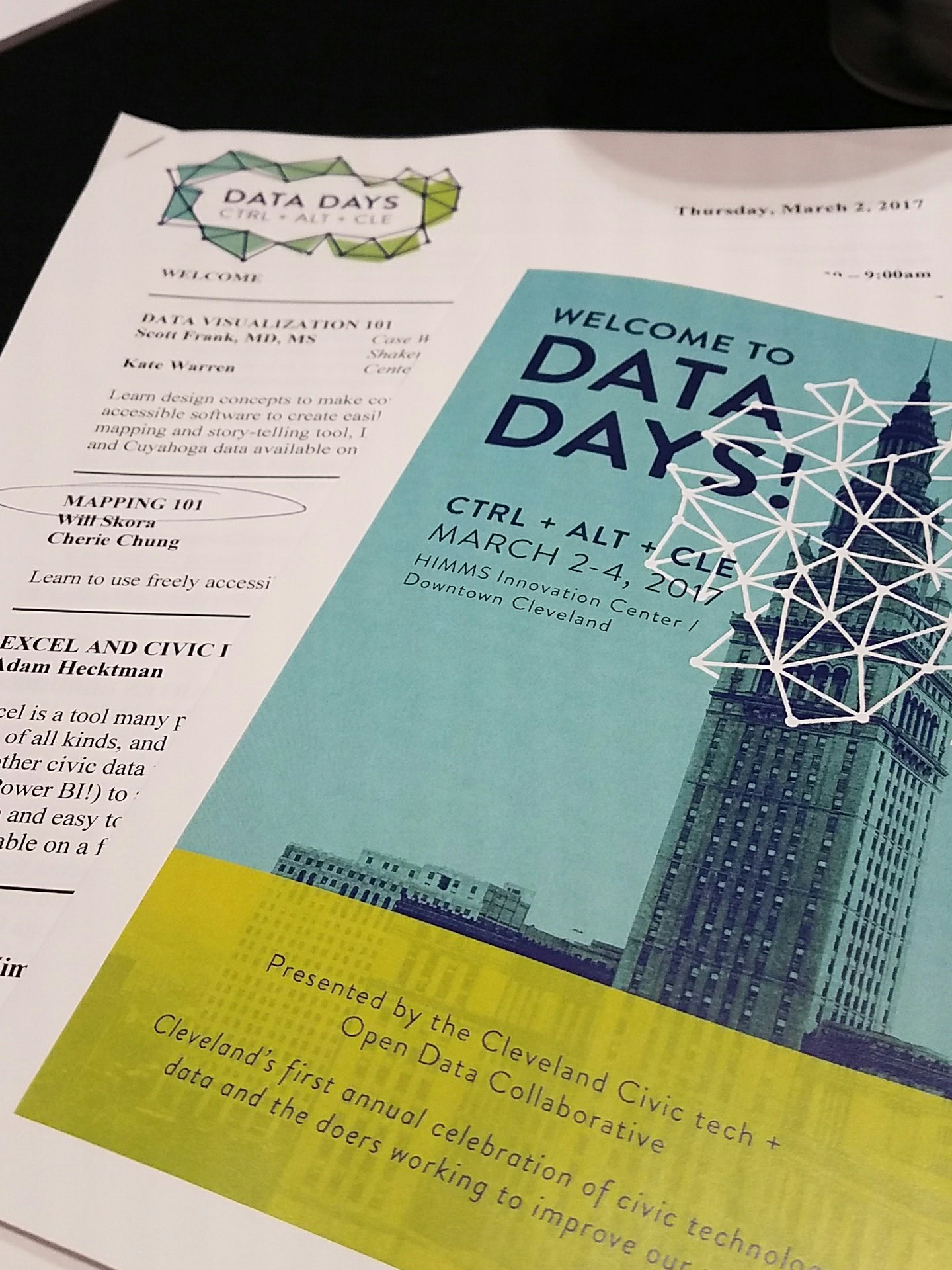 1. Mapping 101 2. Integrated Data and Child Lead expos  3. Health Data Matters 4. Data Sci 102 #DataDaysCLE  #HealthandHousing https://t.co/EXB3HboUpk