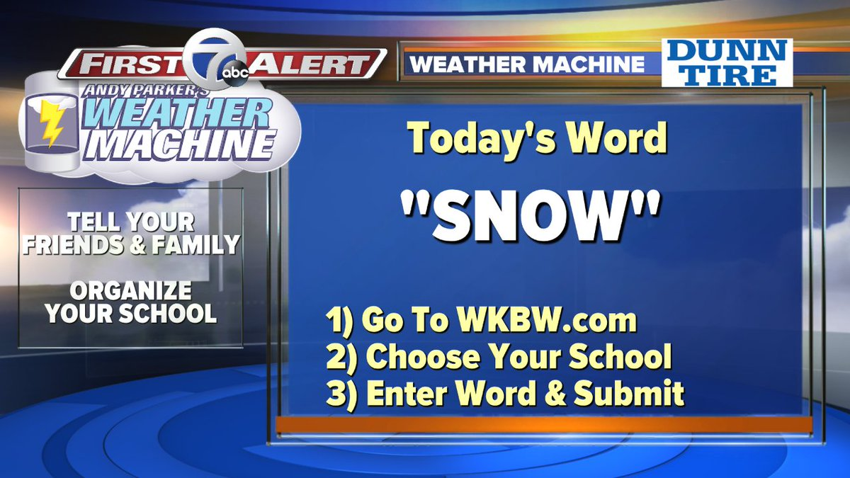 Andy Parker On Twitter Winter Blew Back Into Buffalo Weather Machine Word Is Snow Push Your School Up The List Vote Right Now Https T Co Rwjwt4wfka Wkbw Https T Co J4knfdbo5g