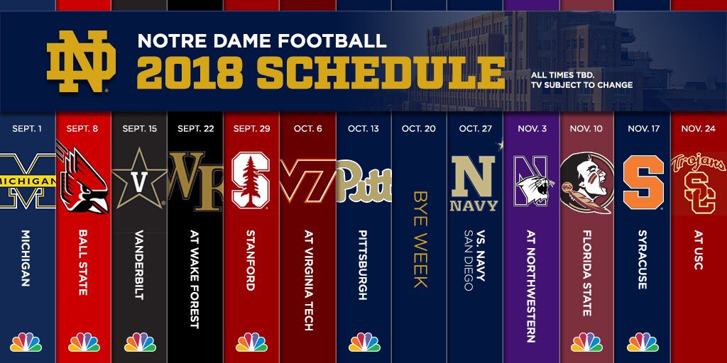 Notre Dame Football Schedule 2020.Nd 2019 Football Schedule 2020 Notre Dame Football Schedule