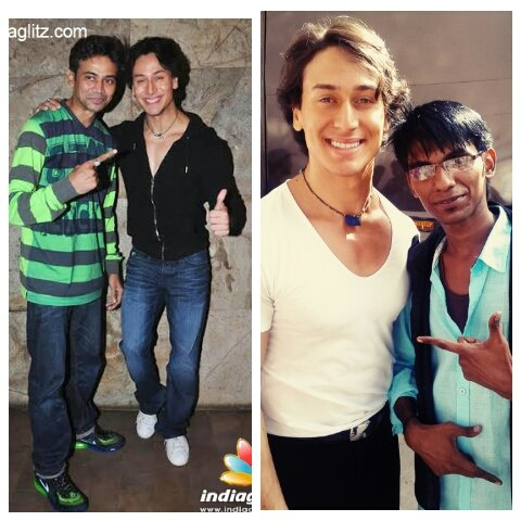 Happy birthday tiger shroff me n tiger shroff n my dance guruji paresh sirodaker