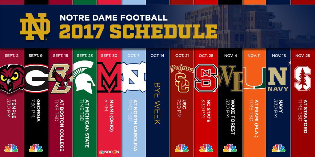 2020 Notre Dame Football Schedule.Notre Dame Football On Twitter Start Planning Your 2019