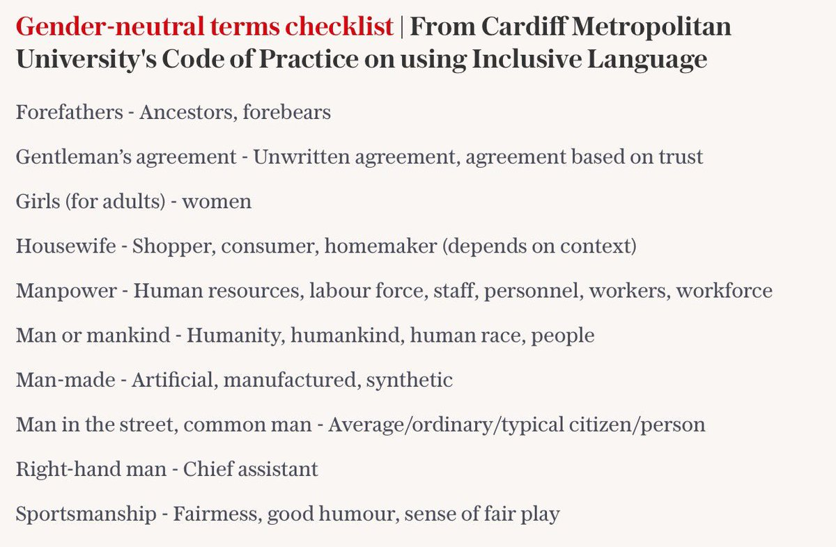 Dr Helen Ingram On Twitter Cardiff Met Has Banned These Words If