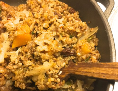One Pan, Two Plates--and Freekeh