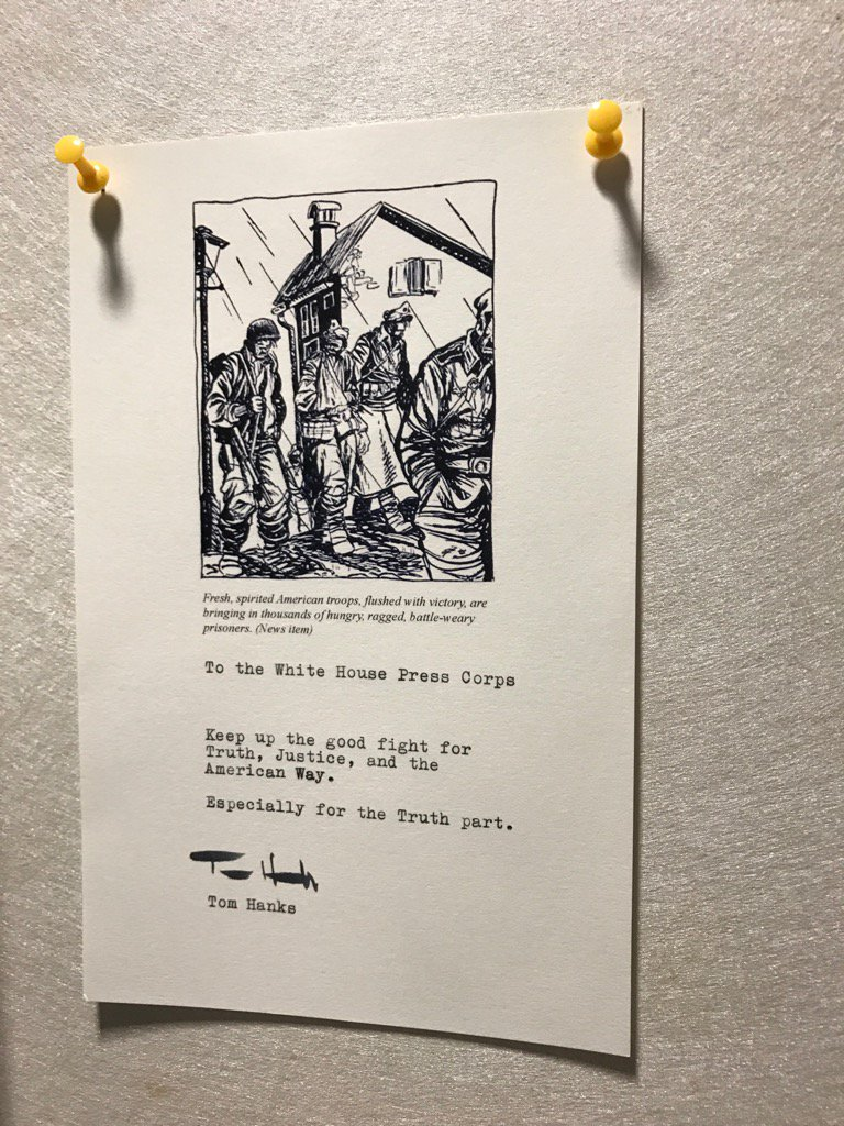 Here is the note @tomhanks sent with the coffee machine https://t.co/vFo4m1OXxf