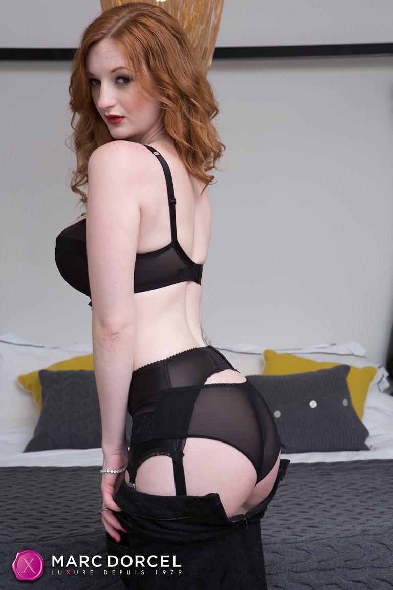 Redhead stockings porn