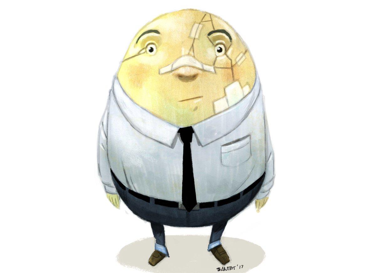 "Dan Santat 😷 on Twitter: ""A character study of Humpty Dumpty  #AfterTheFall… """