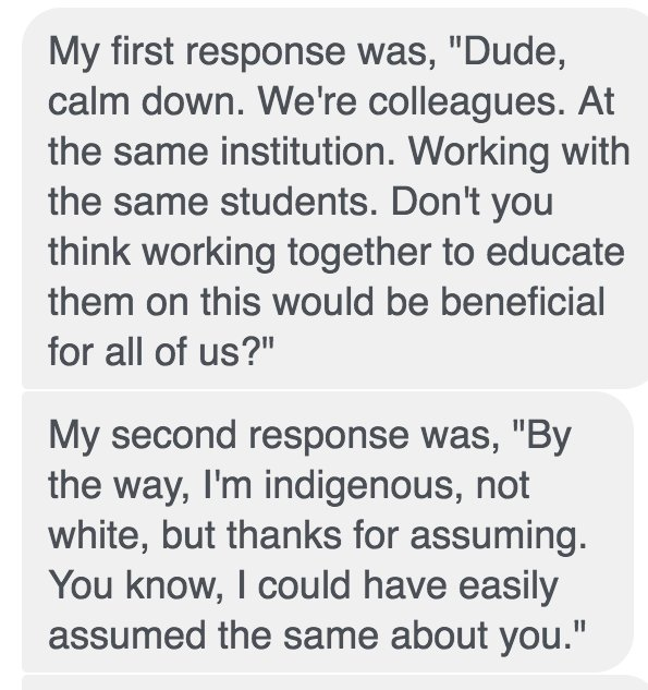 So he made these 2 good points to Becky with the identity problem: https://t.co/DxO1hSUCpL