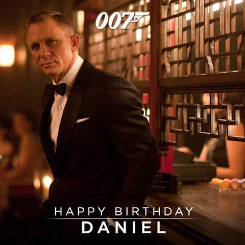 Happy Birthday to great actor & great James Bond Agent 007 Daniel Craig!