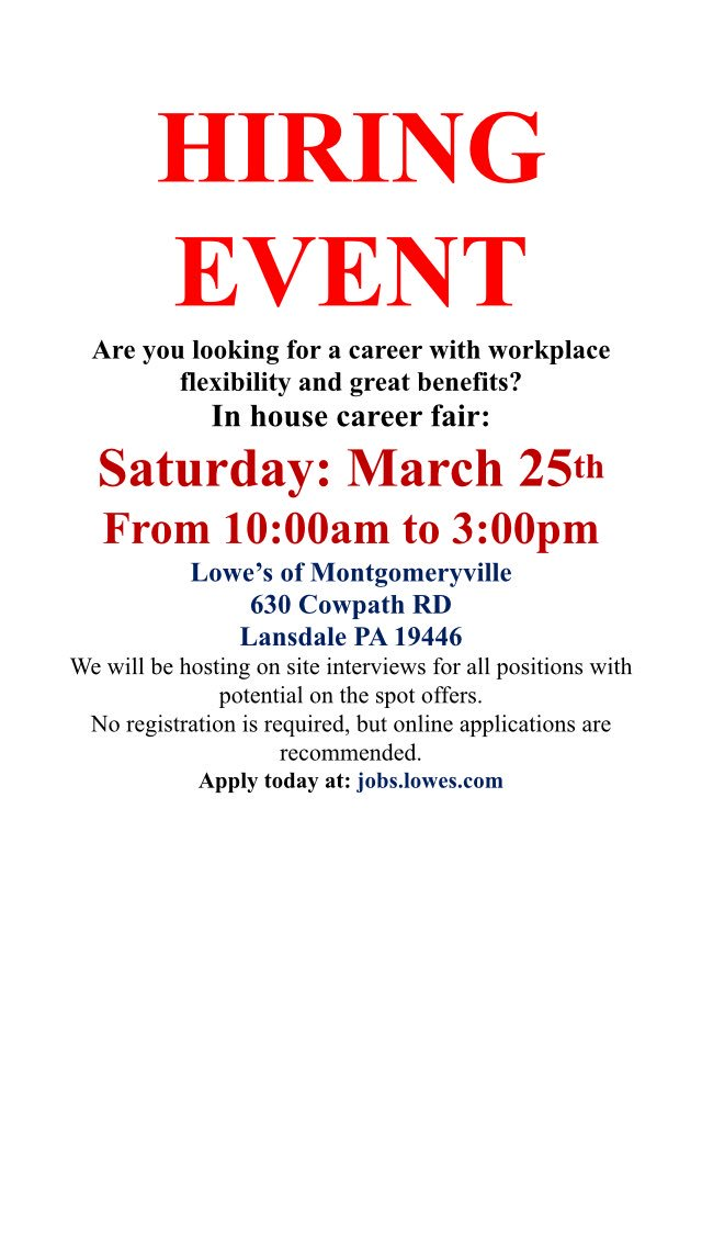 Symone Bingham On Twitter Hiring Event Lowes Lowescareers