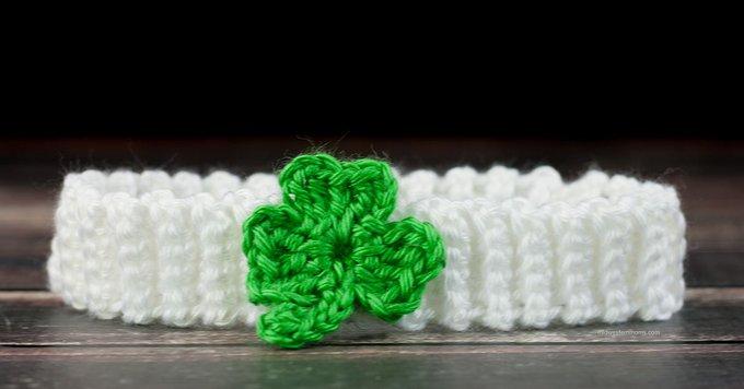 Crochet Shamrock Headband Pattern