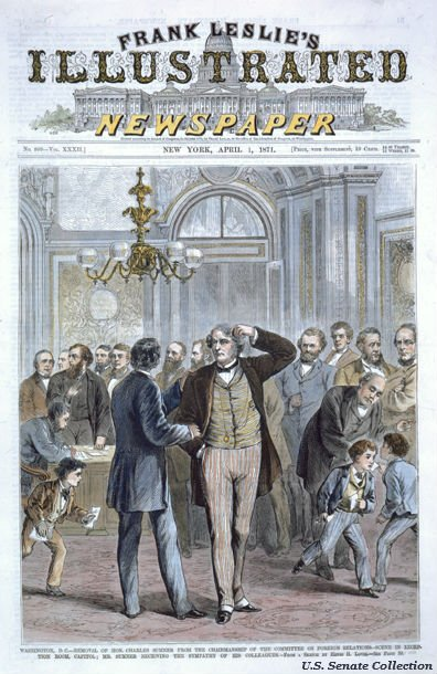 Charles Sumner was removed as chairman of the #Senate Foreign Relations #OTD in 1871 https://t.co/O6shj2eBto https://t.co/rT9NcnEJGB
