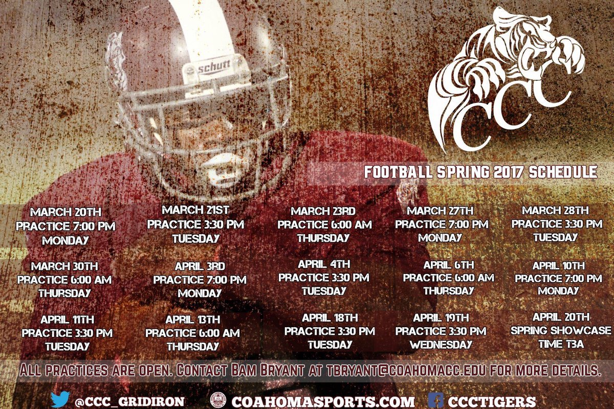 Coahoma Football On Twitter Coahoma Community College Spring