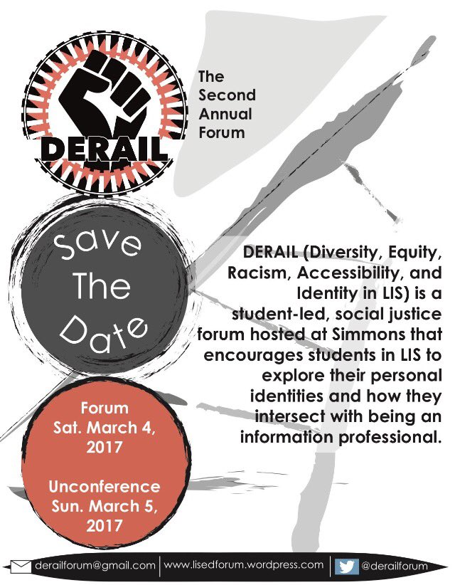 Don't know if you have heard, but #DERAIL2017 is this SATURDAY! Register to attend virtually and follow us here! https://t.co/GcorjALtrr