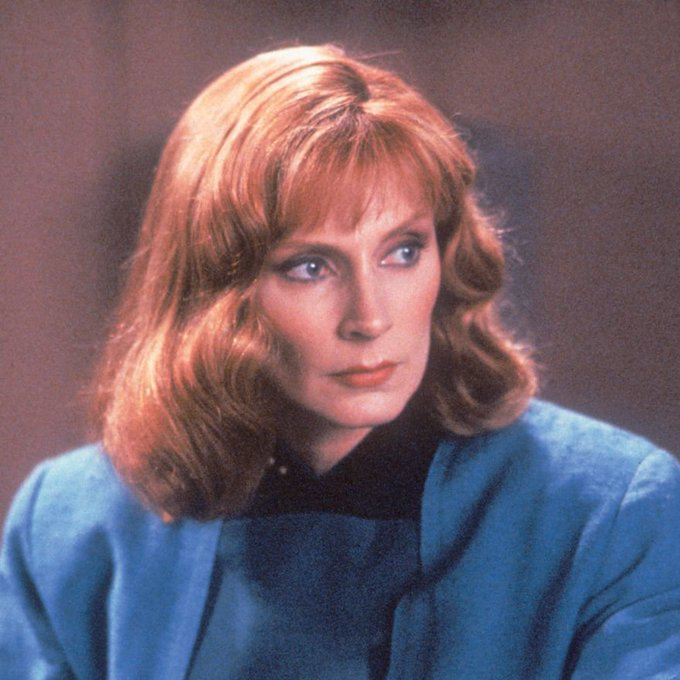 Help us wish a very happy birthday to   who played Dr Beverly Crusher!