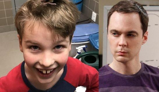 """Este será o Sheldon criança na nova série de """"The Big Bang Theory"""" dedicada a ele: https://t.co/O1zSeJ0Hmp"""