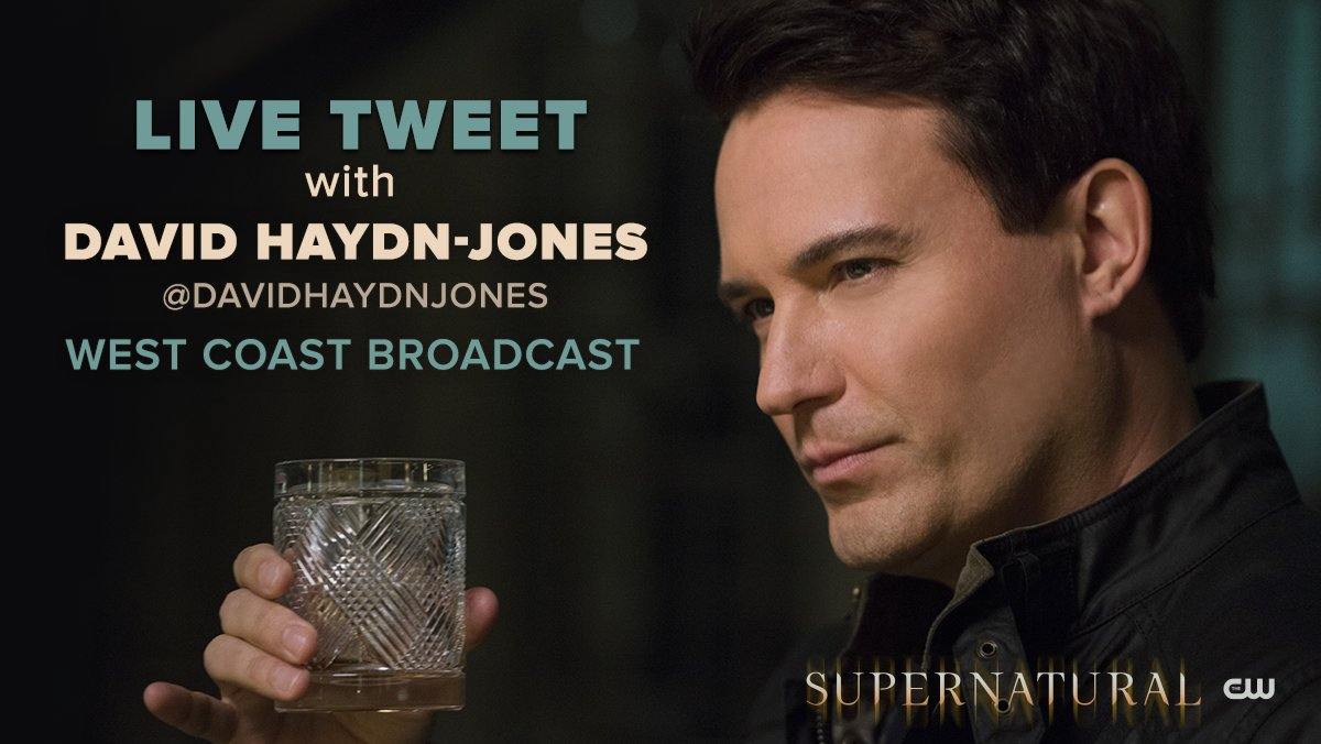 Well what a treat, join @DavidHaydnJones for a Live-Tweet of @cw_spn tonight with #MrKetch #BMOL https://t.co/s54b6W60qI