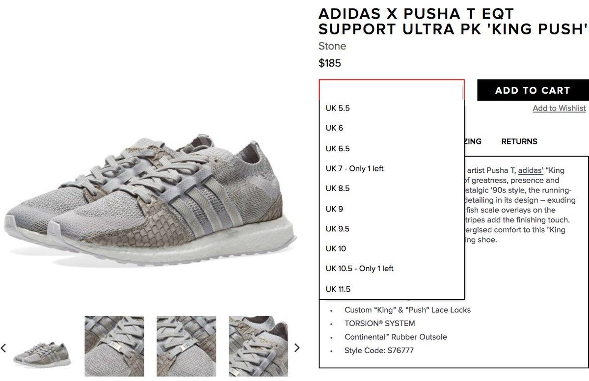low priced 21fe4 17dd2 adidas x Pusha T EQT Support Ultra PK King Push via End   httpbit.ly2lqu2wq pic.twitter.comW28dKjJSHM