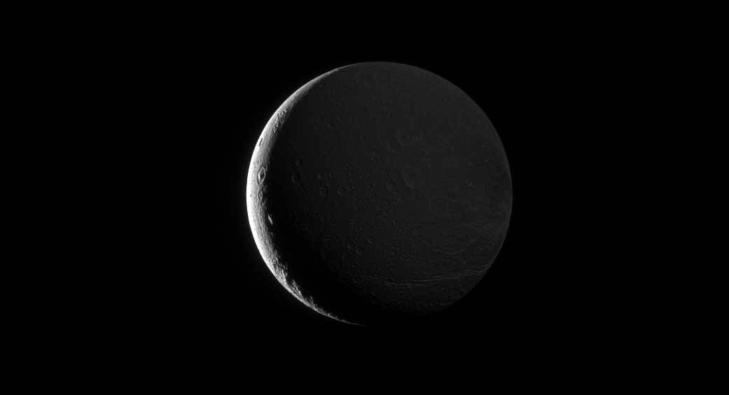 Saturn's Shine Lights Up Moon Dione https://t.co/vcr12dS9y8