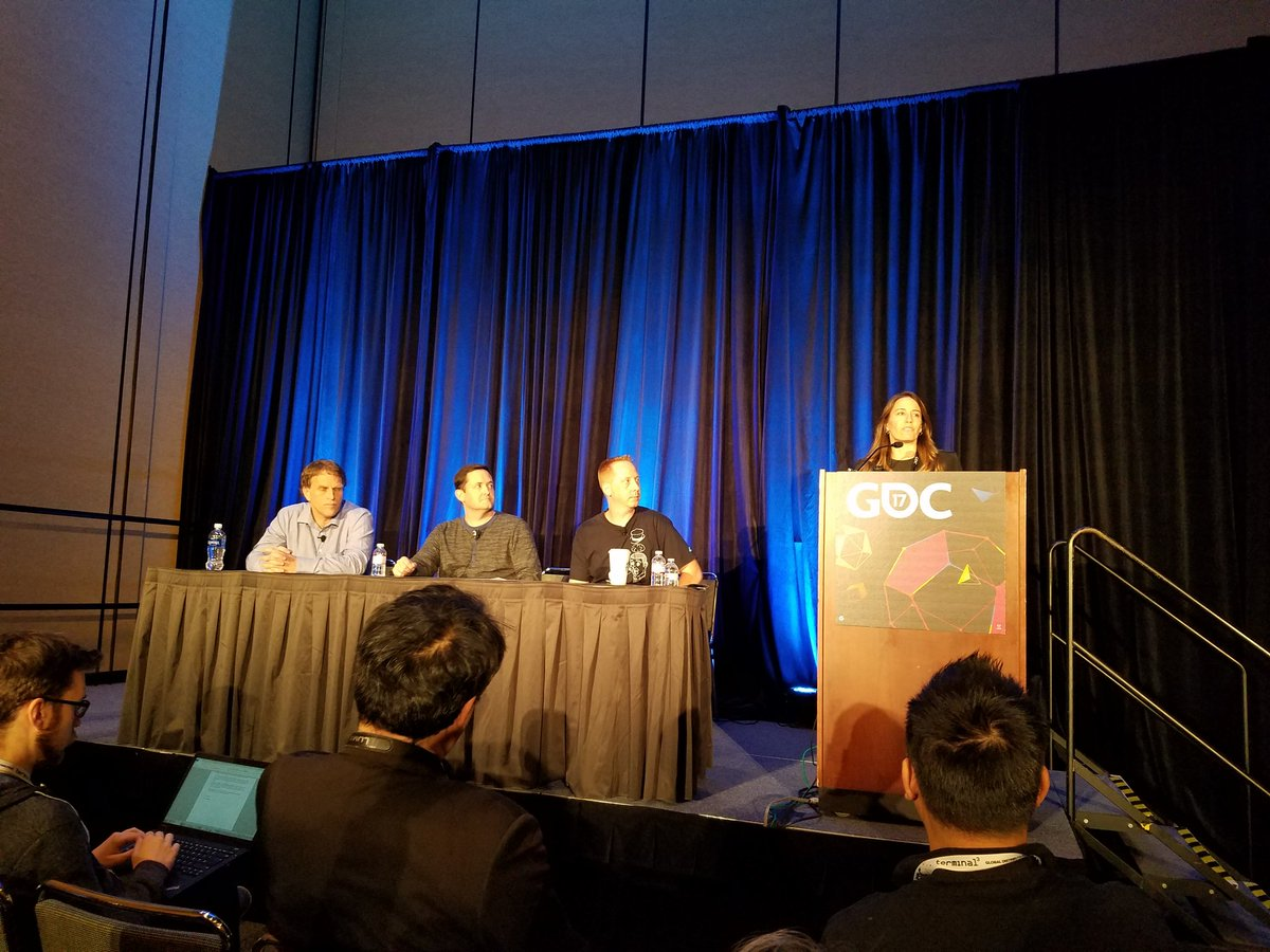The VR and the Return of Arcades panel started at #gdc17. Find us in room 2024 in West Hall!