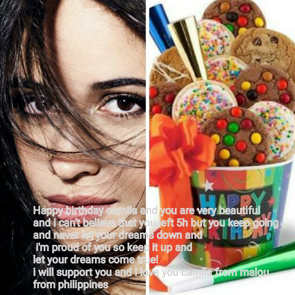 HAPPY BIRTHDAY TO CAMILA CABELLO   6:49 a.m. March 3, 2017 here