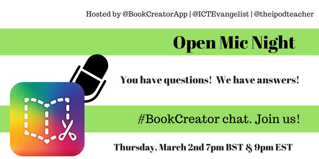 Thumbnail for #BookCreator chat 3/2/2017 - US