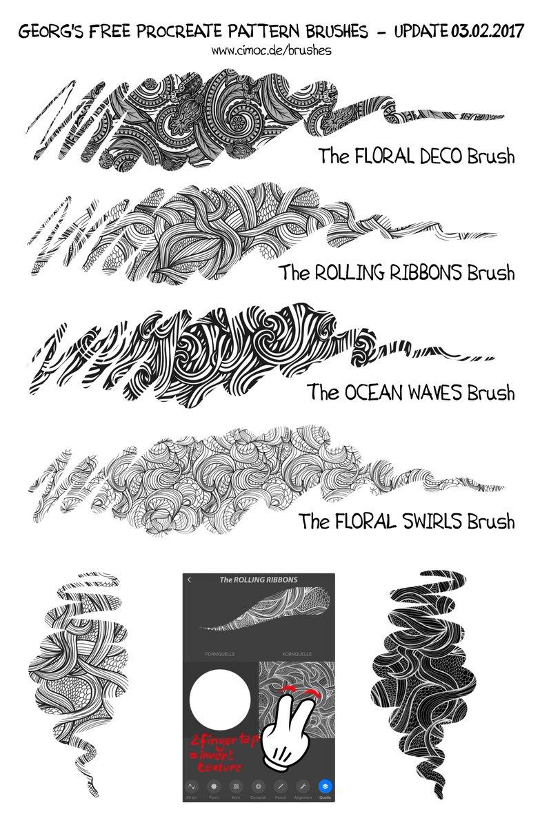 FREE Procreate Brushes from Georg von Westphalen on Twitter