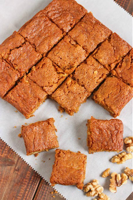 Sticky Maple Walnut Blondies